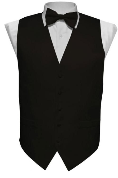 Vest Set Plain - BLACK