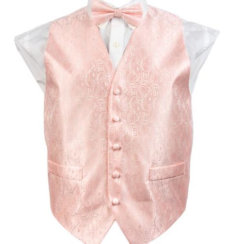 Vest Set Paisley - BLUSH