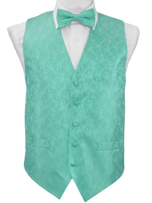 Vest set Paisley - AQUA