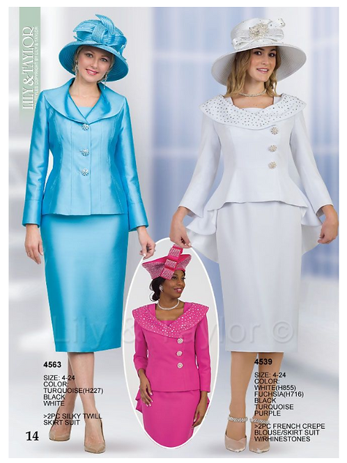 Lily & Taylor 3pc Novelty Skirt Suit #4563 and #4539