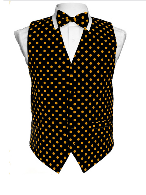 Vest Set Polka Dot - BLACK/GOLD