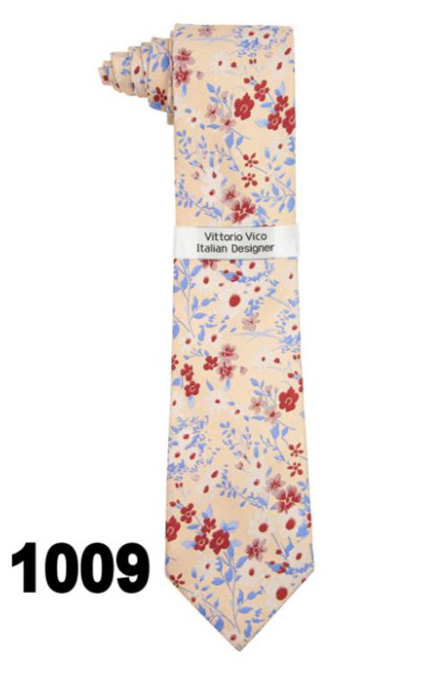 DESIGNER TIE & HANKY - 1009