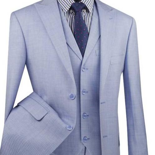 MV2K-1 Modern Fit Vested Suit with Peak Lapel and Fancy vest