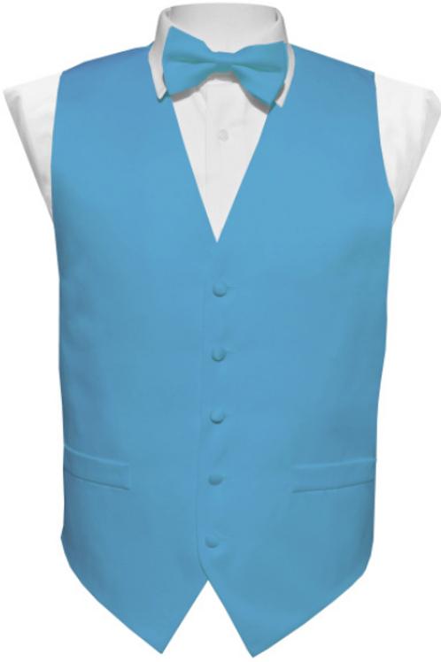 Vest Set Plain - TURQUOISE
