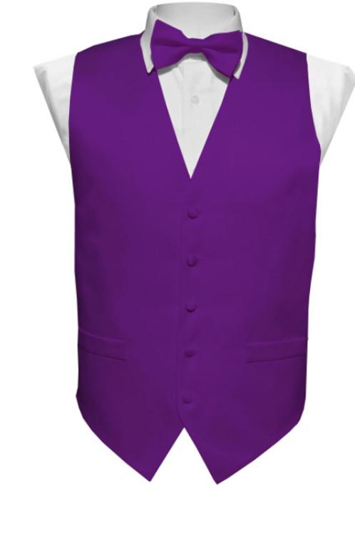 Vest Set Plain - PURPLE