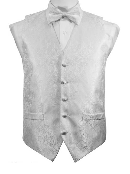 Vest Set Paisley - WHITE