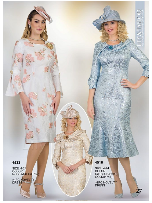 Lily & Taylor 1pc Dress #4533 and #4516