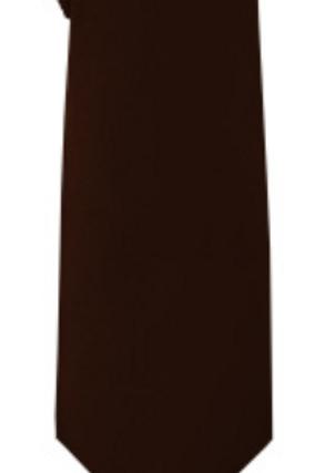Solid Tie & Hanky - BROWN