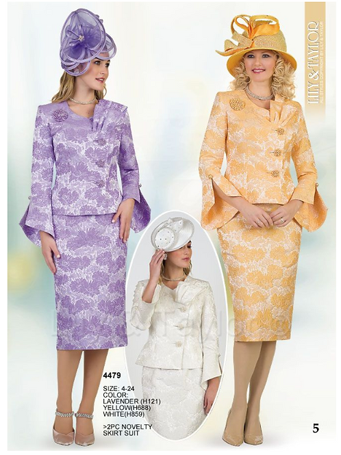 Lily & Taylor 3pc Novelty Skirt Suit #4479