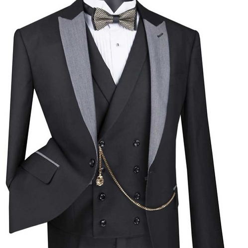 SV2R-6 Single Breasted 1 buttons, Slim fit 3 pcs Suits with Peak Lapel