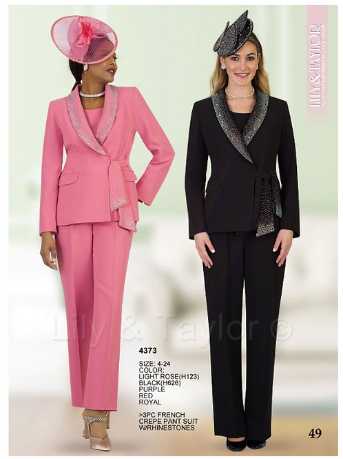 Lily & Taylor 3pc Novelty Skirt Suit #4373