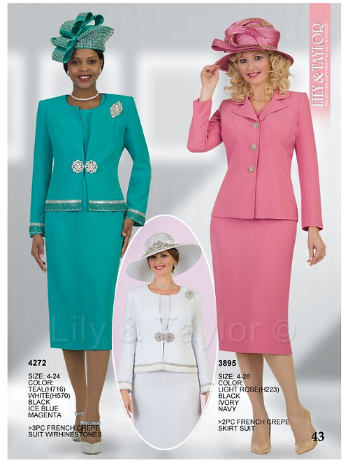 Lily & Taylor 3pc Novelty Skirt Suit #4272 and #3895