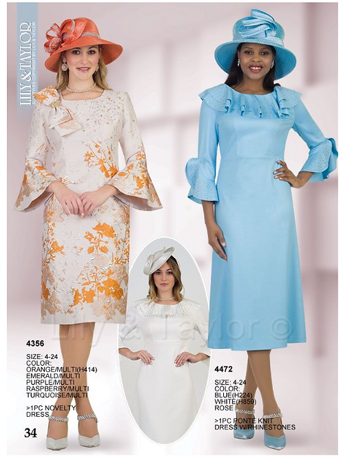 Lily & Taylor 1pc Dress #4356 and #4472