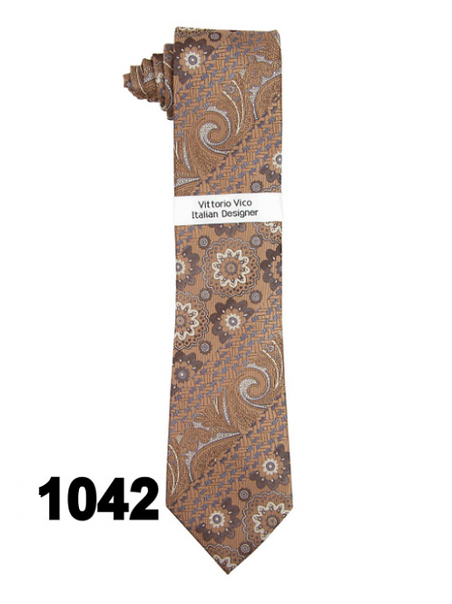 DESIGNER TIE & HANKY - 1042