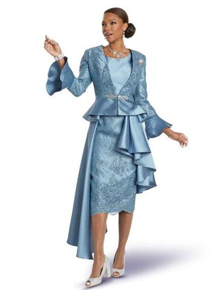 Donna Vinci 5730 3 PC. Jacket/Cami & Skirt Set