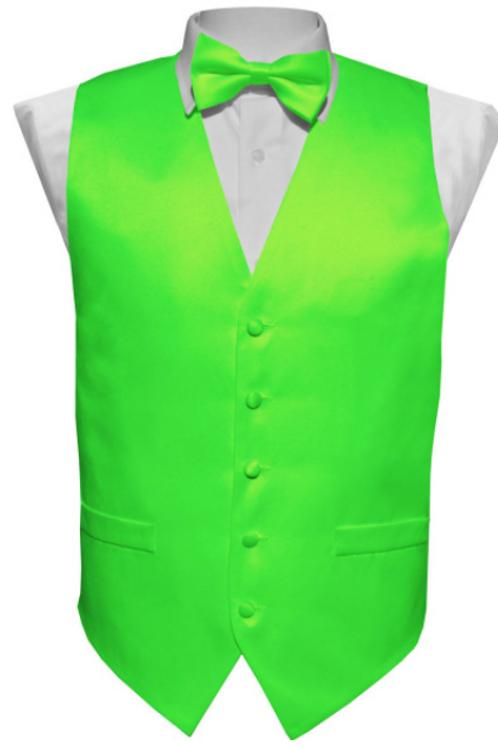 Vest Set Plain - LIME
