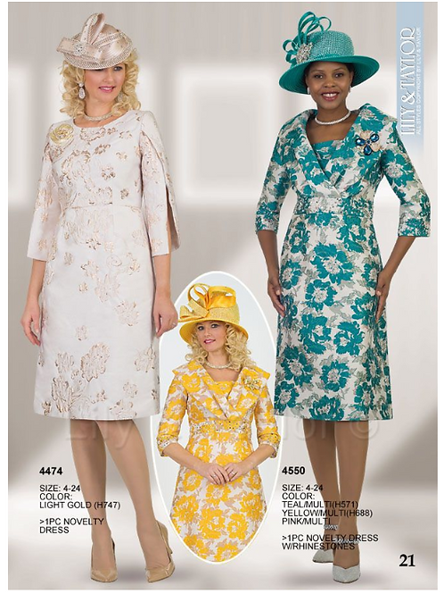 Lily & Taylor 1pc Dress #4474 and #4550