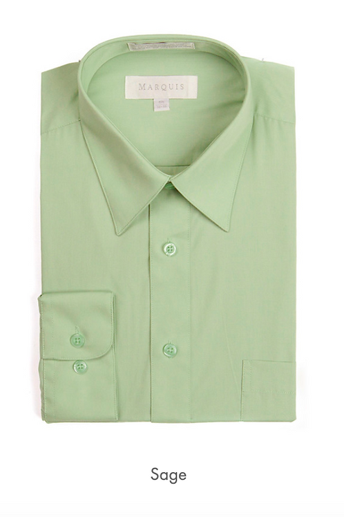 Marquis Solid Classic Fit Dress Shirt - SAGE