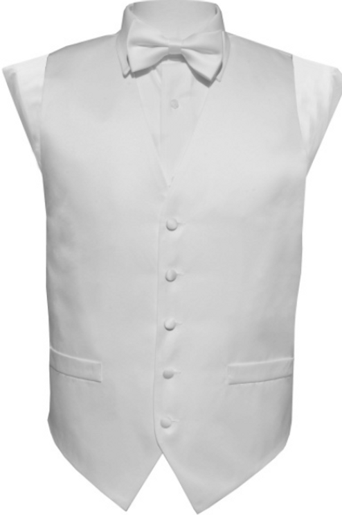 Vest Set Plain - WHITE