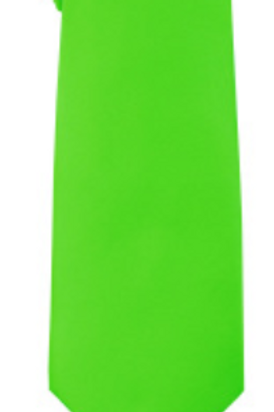 Solid Tie & Hanky - LIME