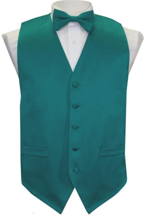 Vest Set Plain - TEAL