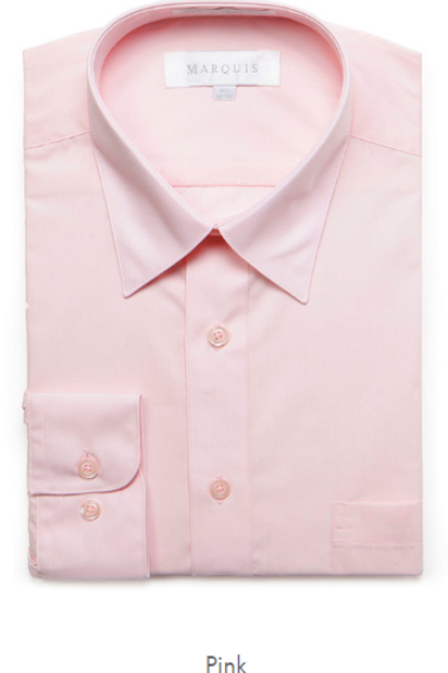 Marquis Solid Classic Fit Dress Shirt - PINK