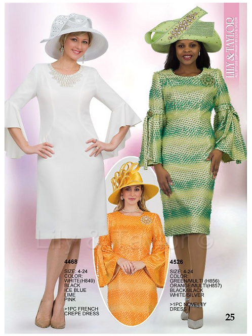 Lily & Taylor 1pc Dress #4468 and #4526