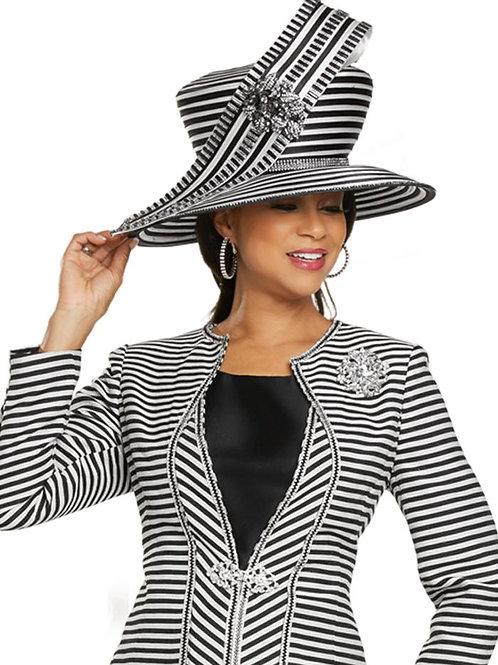 Donna Vinci #H11882 Black/Off White