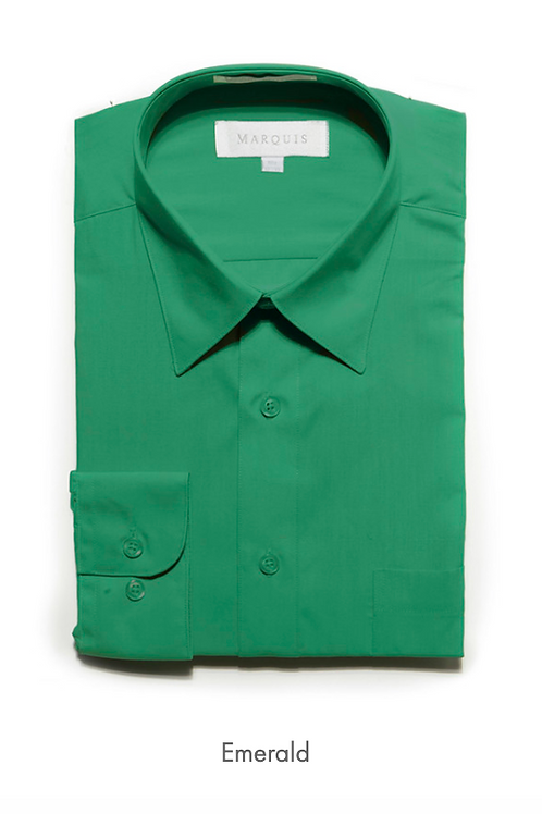 Marquis Solid Classic Fit Dress Shirt - EMERALD