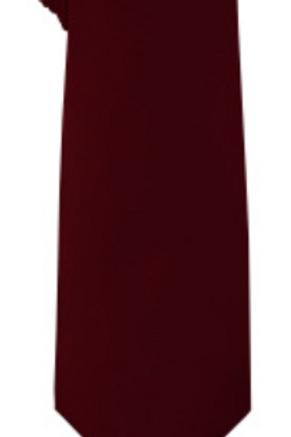 Solid Tie & Hanky - BURGUNDY
