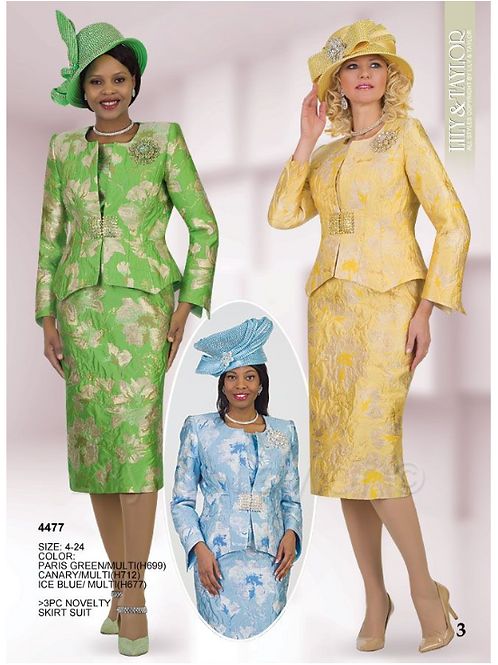 Lily & Taylor 3pc Novelty Skirt Suit #4477