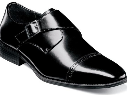 Stacy Adams - Armond Cap Toe Monk Strap