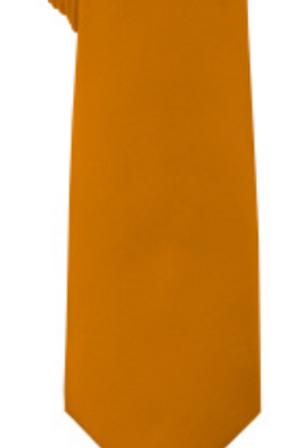 Solid Tie & Hanky - AMBER