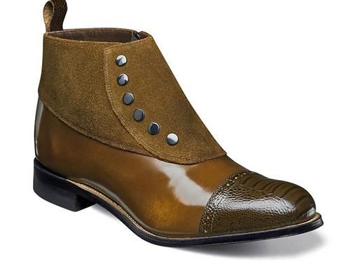 Stacy Adams - Madison Cap toe Side Zipper Demi Boot