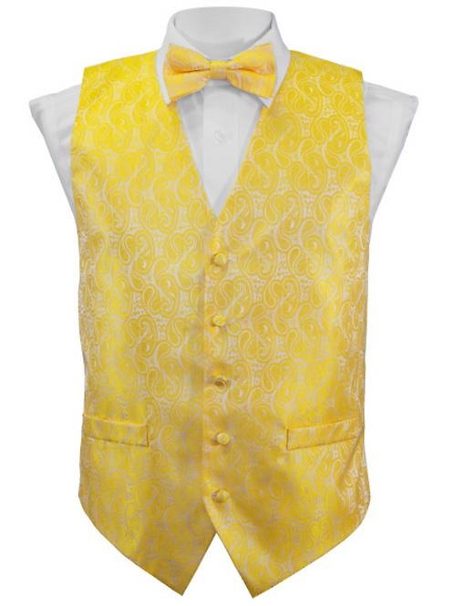 Vest Set Paisley - YELLOW