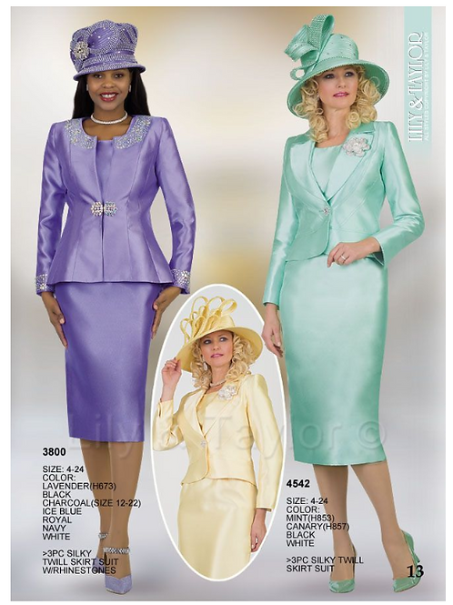 Lily & Taylor 3pc Novelty Skirt Suit #3800 and #4542