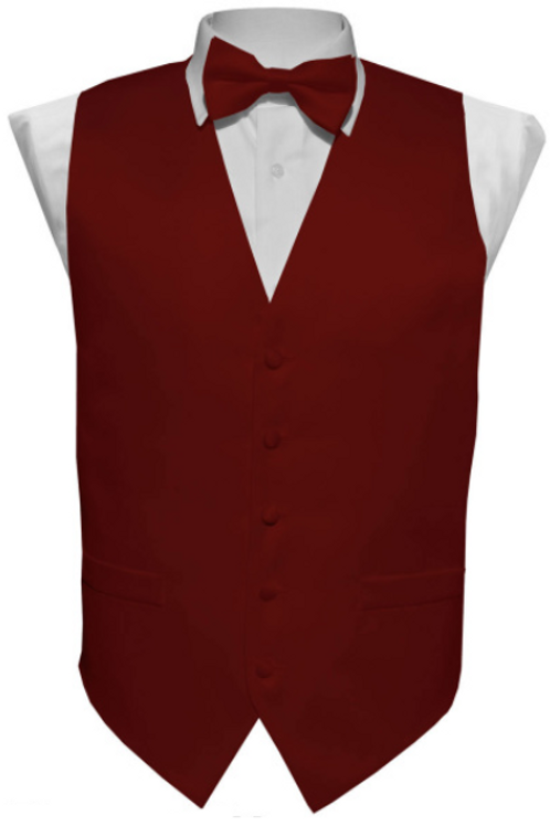 Vest Set Plain - BURGUNDY
