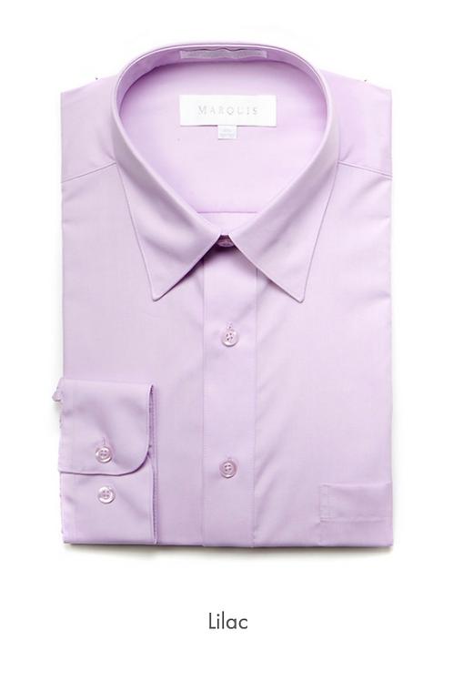 Marquis Solid Classic Fit Dress Shirt - LILIAC