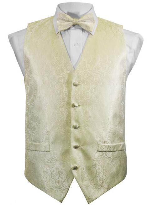 Vest Set Paisley - IVORY