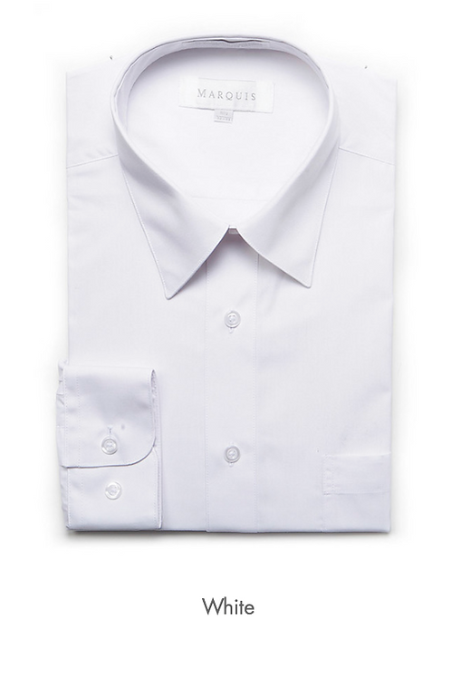 Marquis Solid Classic Fit Dress Shirt - WHITE