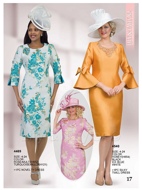 Lily & Taylor 1pc Dress #4469 and #4540