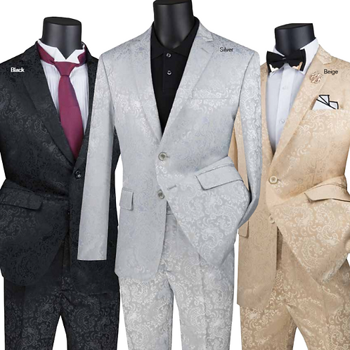 Slim Fit Texture Suit