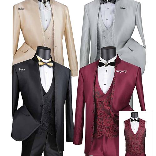 SV2HT-2 Slim Fit Banded Collar Tuxedo