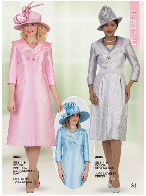 Lily & Taylor 1pc Dress #4552 and #4506