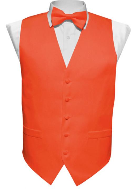 Vest Set Plain - CORAL