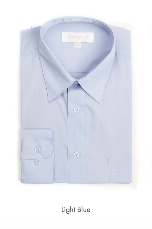 Marquis Solid Classic Fit Dress Shirt - LIGHT BLUE