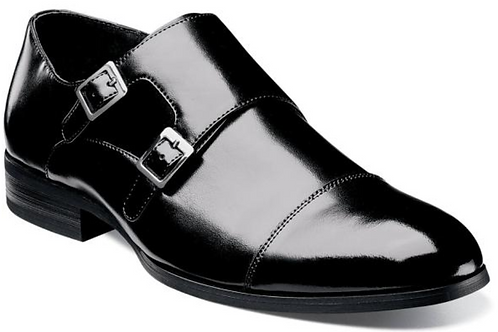 Stacy Adams - Gordon Cap Toe Double Monk Strap
