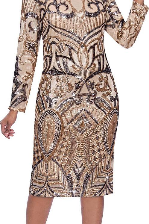 Susanna #3968 Gold Dress
