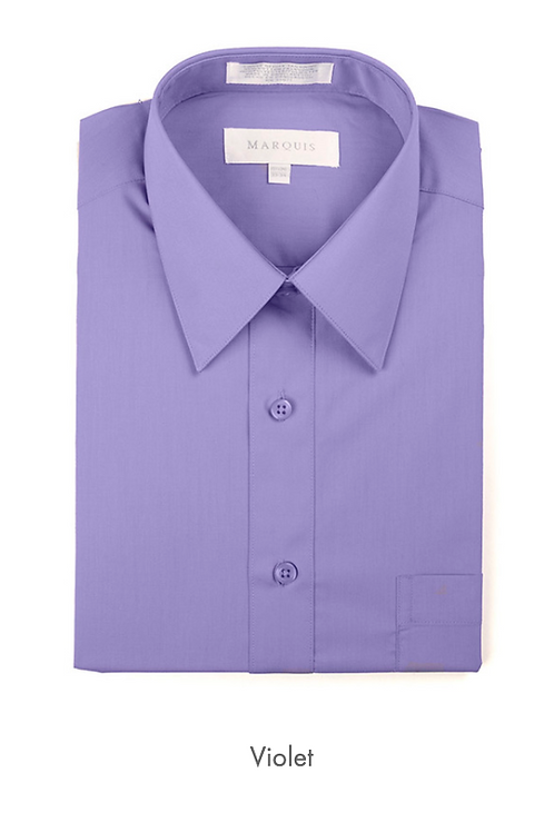 Marquis Solid Classic Fit Dress Shirt - VIOLET