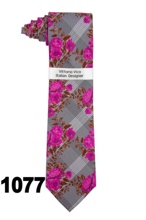 DESIGNER TIE & HANKY - 1077